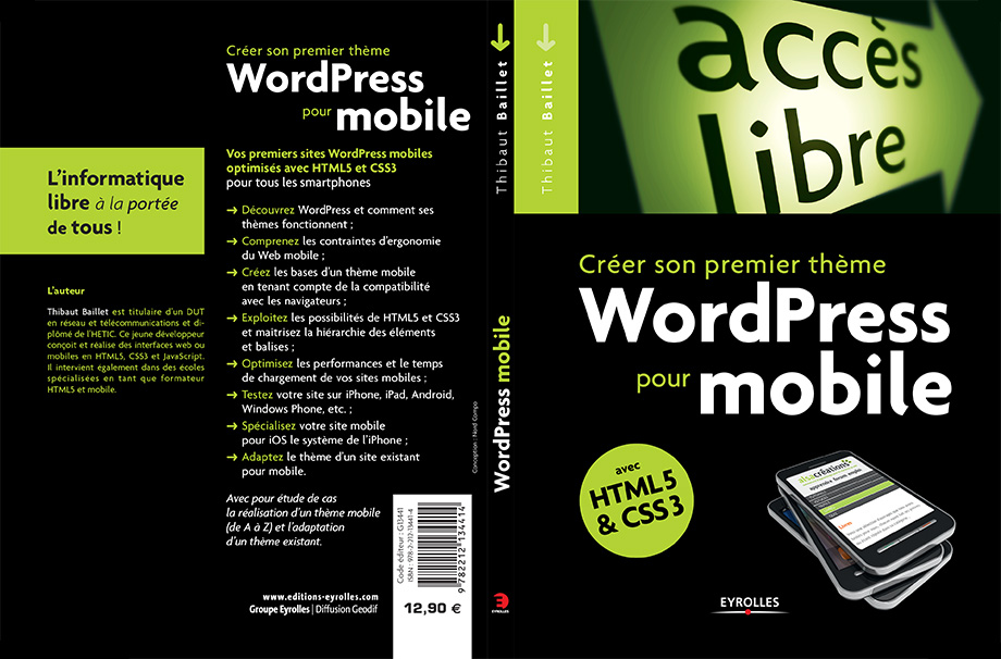 Cover book Create a mobile website with Wordpress