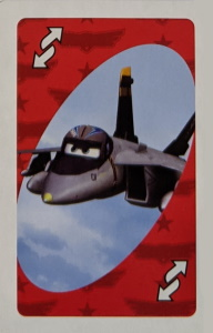 Planes (2014) Red Uno Reverse Card