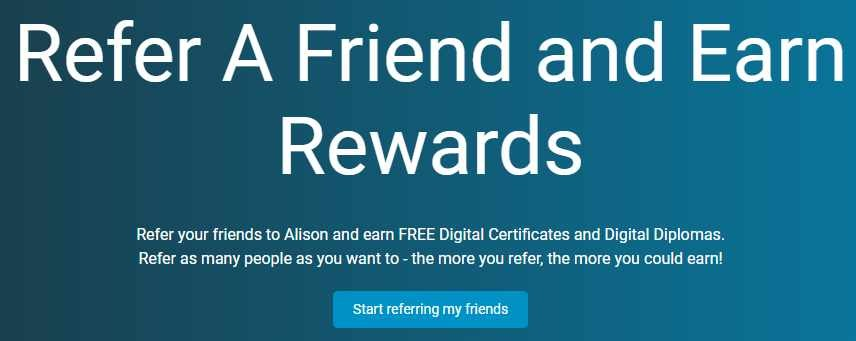 Alison referral program