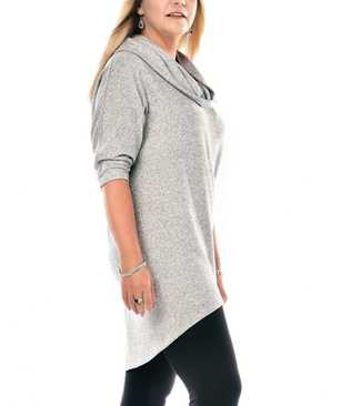 Rapz Cowl Neck Long Wool Sweater CANADA