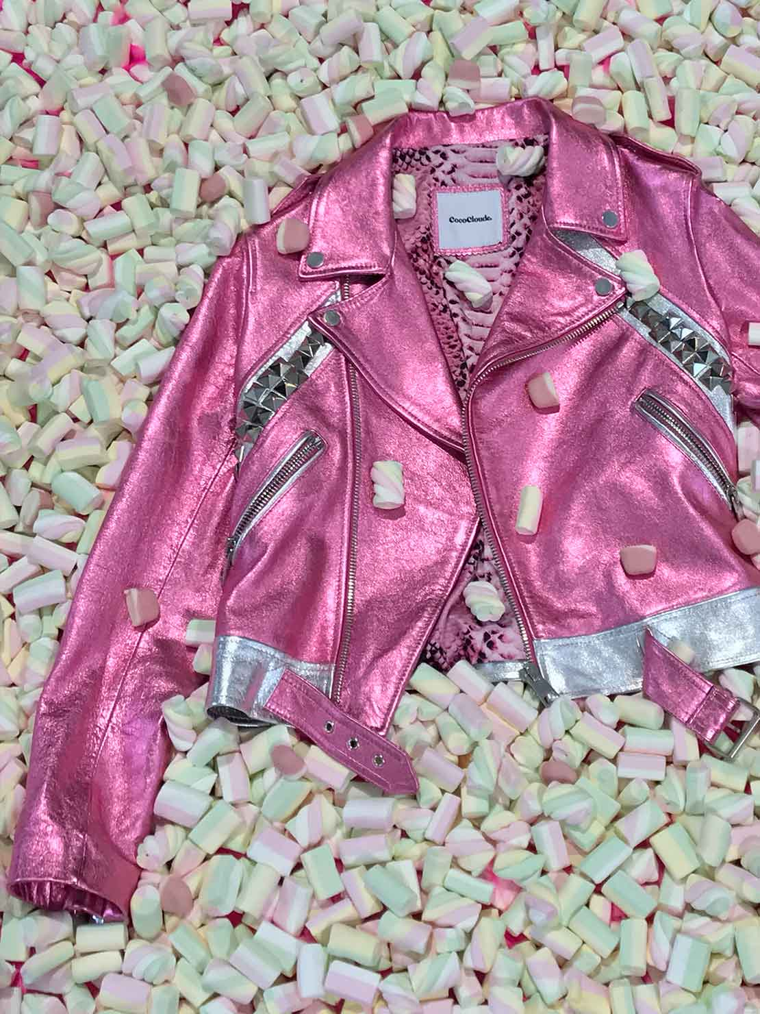 COCOCLOUDE - leather jacket Pink