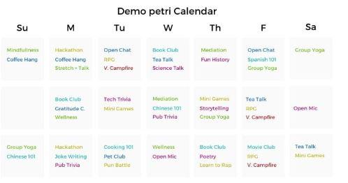 teambuilding.com demo petri calendar