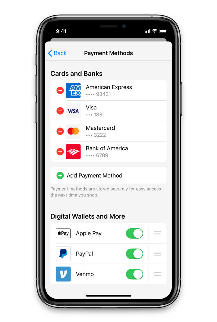 Drop-In Digital Wallet Solution