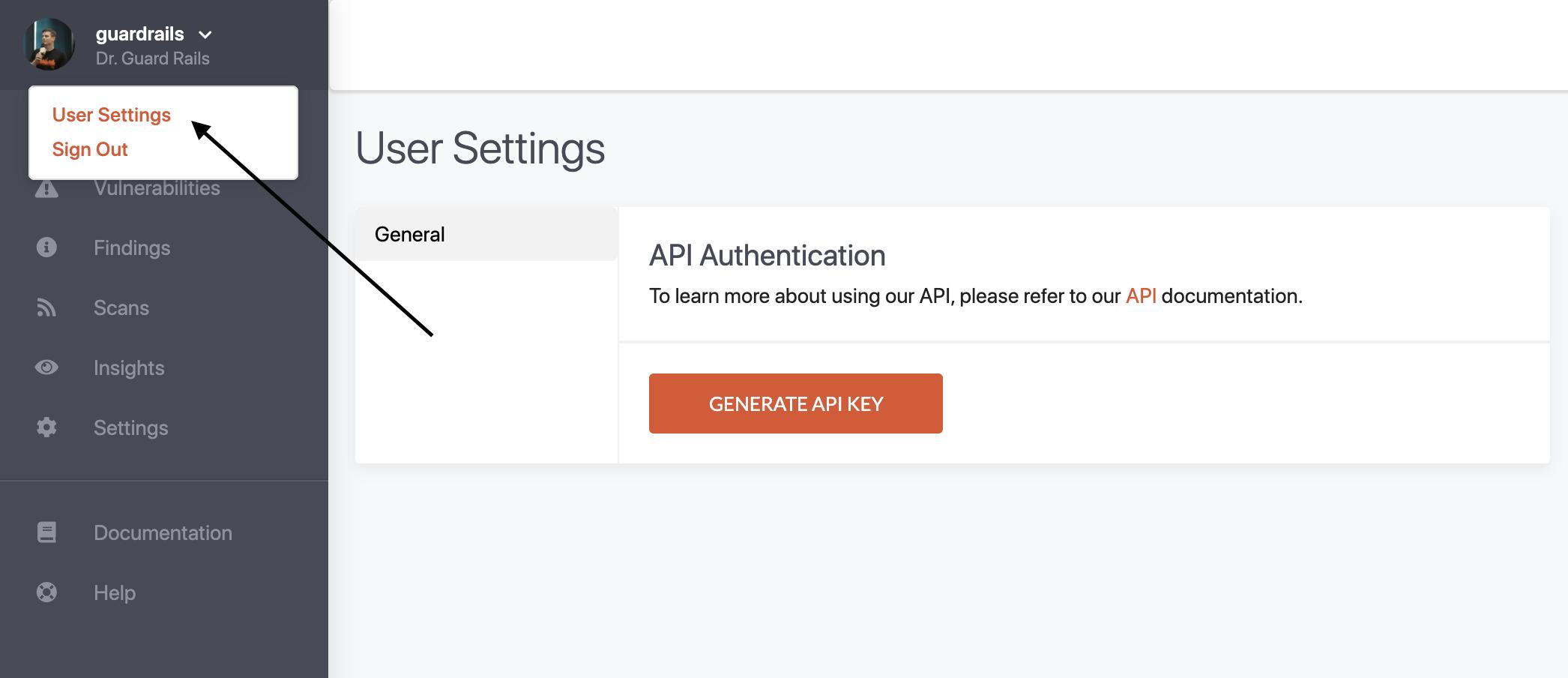 API Key Generation