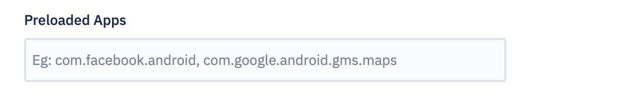 Preloaded apps
