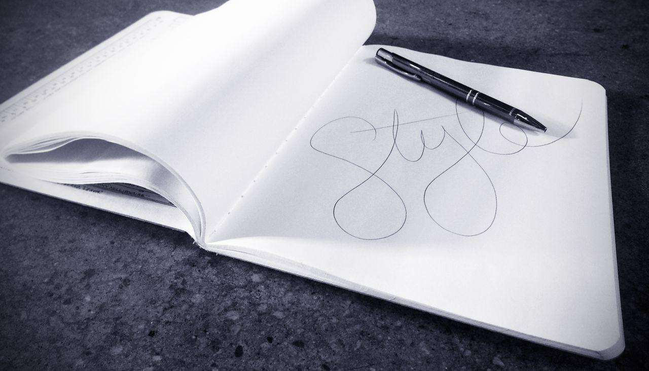 Style written on sketchbook page