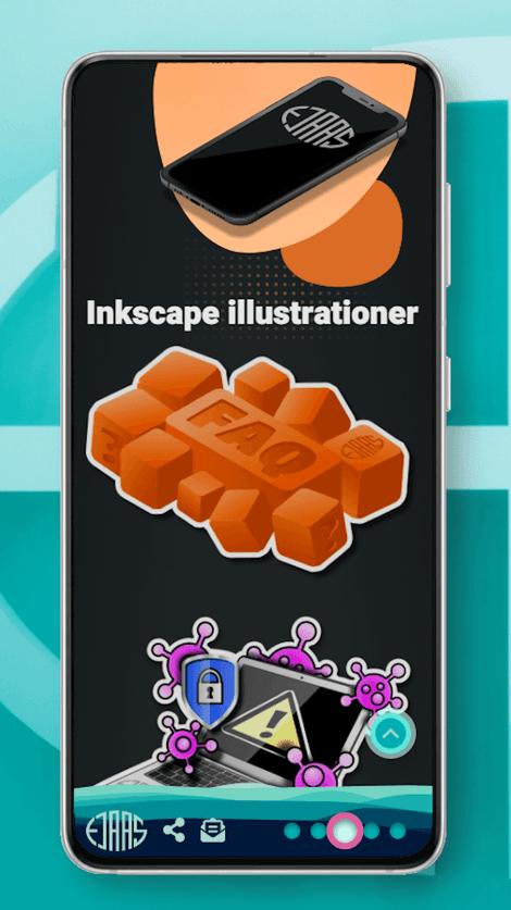 Skærmbillede af larsejaas.com grafikside på en smartphone