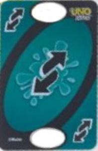 Uno Flip Splash Aquamarine Uno Reverse Card (Dark Side)
