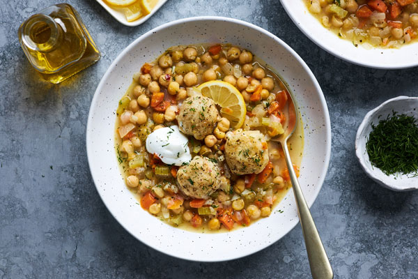 Greekstyle Chickpea Stew with Dumplings (Revithosoupa)