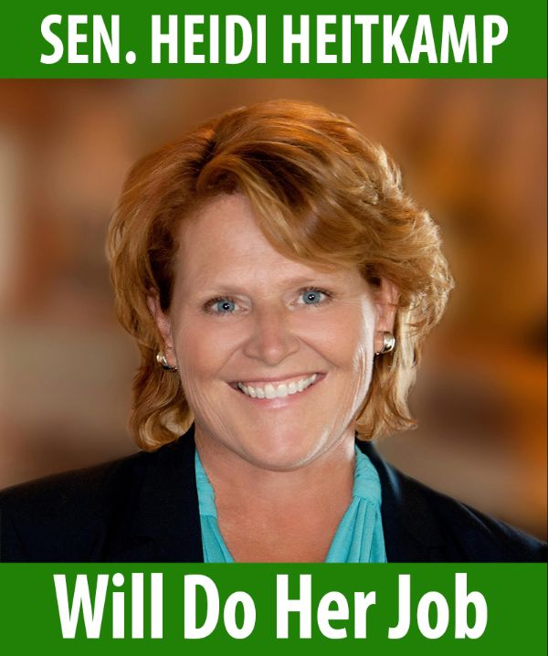 Senator Heitkamp will do her job!