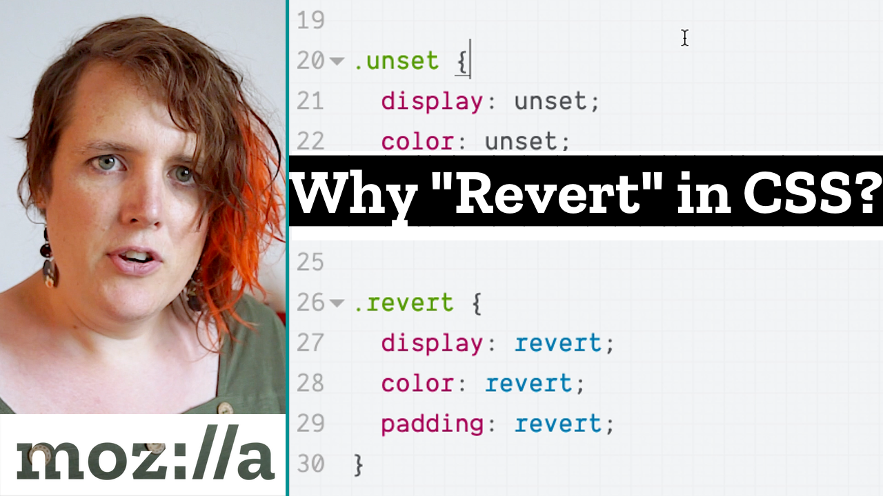 CSS snippet showing display revert