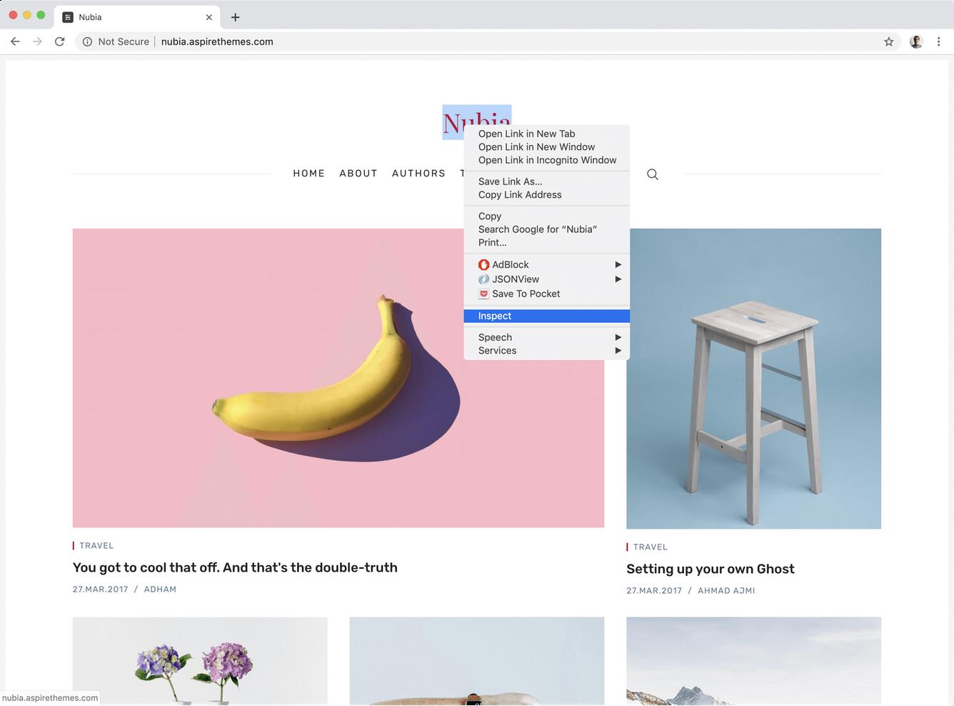 Google Chrome Dev Tools Inspect