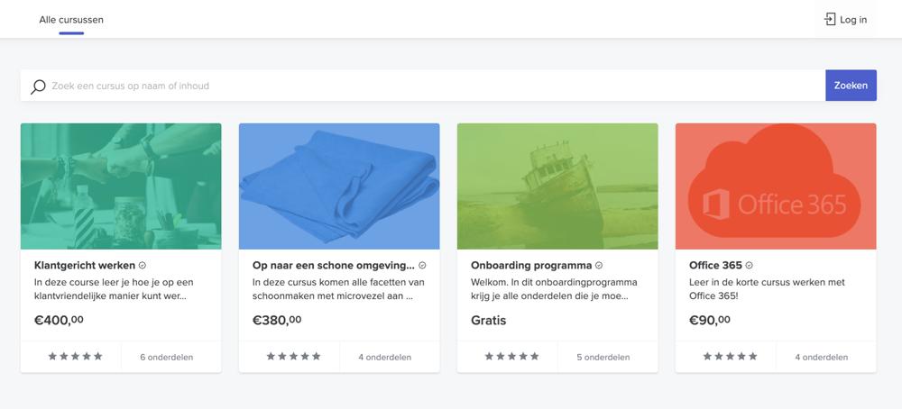 Extern leerportaal homepage