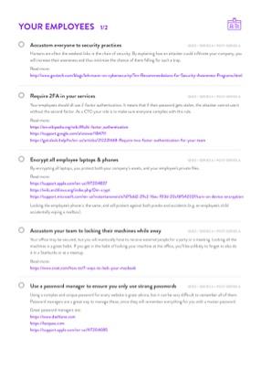 SaaS CTO Security Checklist page 2