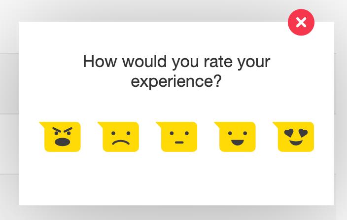 Product feedback example from Hotjar