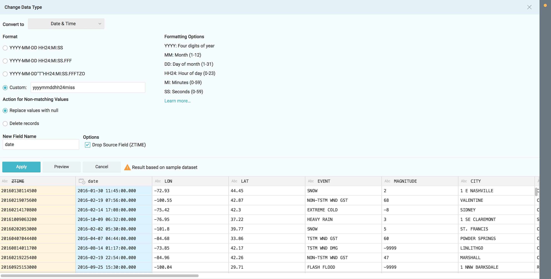 Dremio and D3 tutorial - date formatting