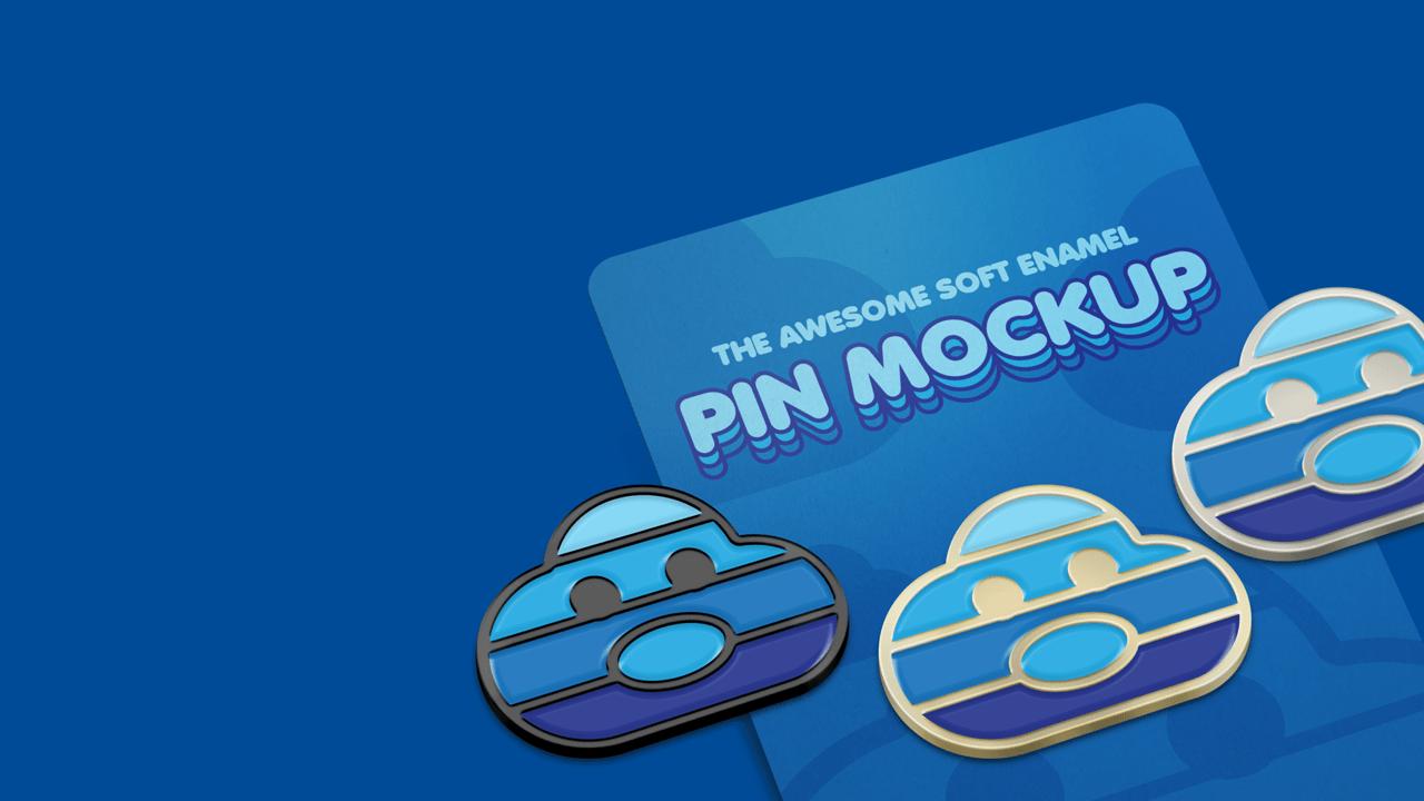 Enamel Pin Mockup