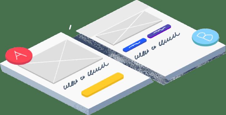 Split testing multiple designs