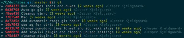 Enhanced Git log