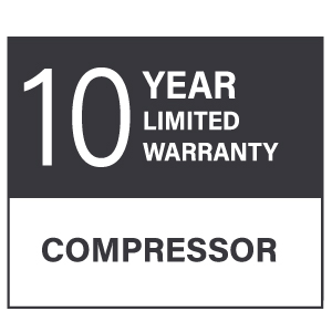 10 year limited warranty compressor