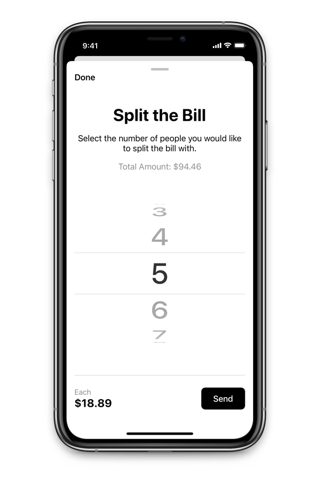 Tip App - Split the Bill