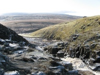 Cauldron Snout waterfall in Upper Teesdale