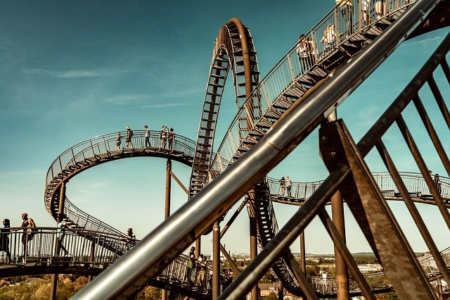 Humans on roller coaster
