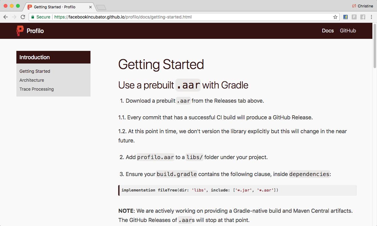 Website Docs Example
