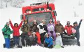 Snowboard camp group