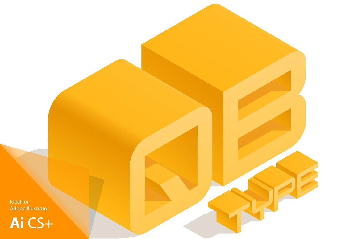 3D Isometric Typefaces images/3D-isometric-vector-typefaces-font-yellow_2_1.jpg
