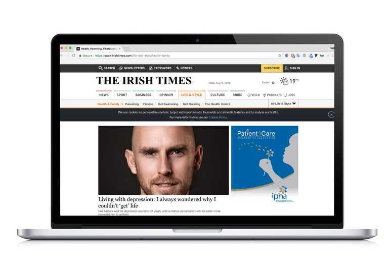 ipha advertisement on website