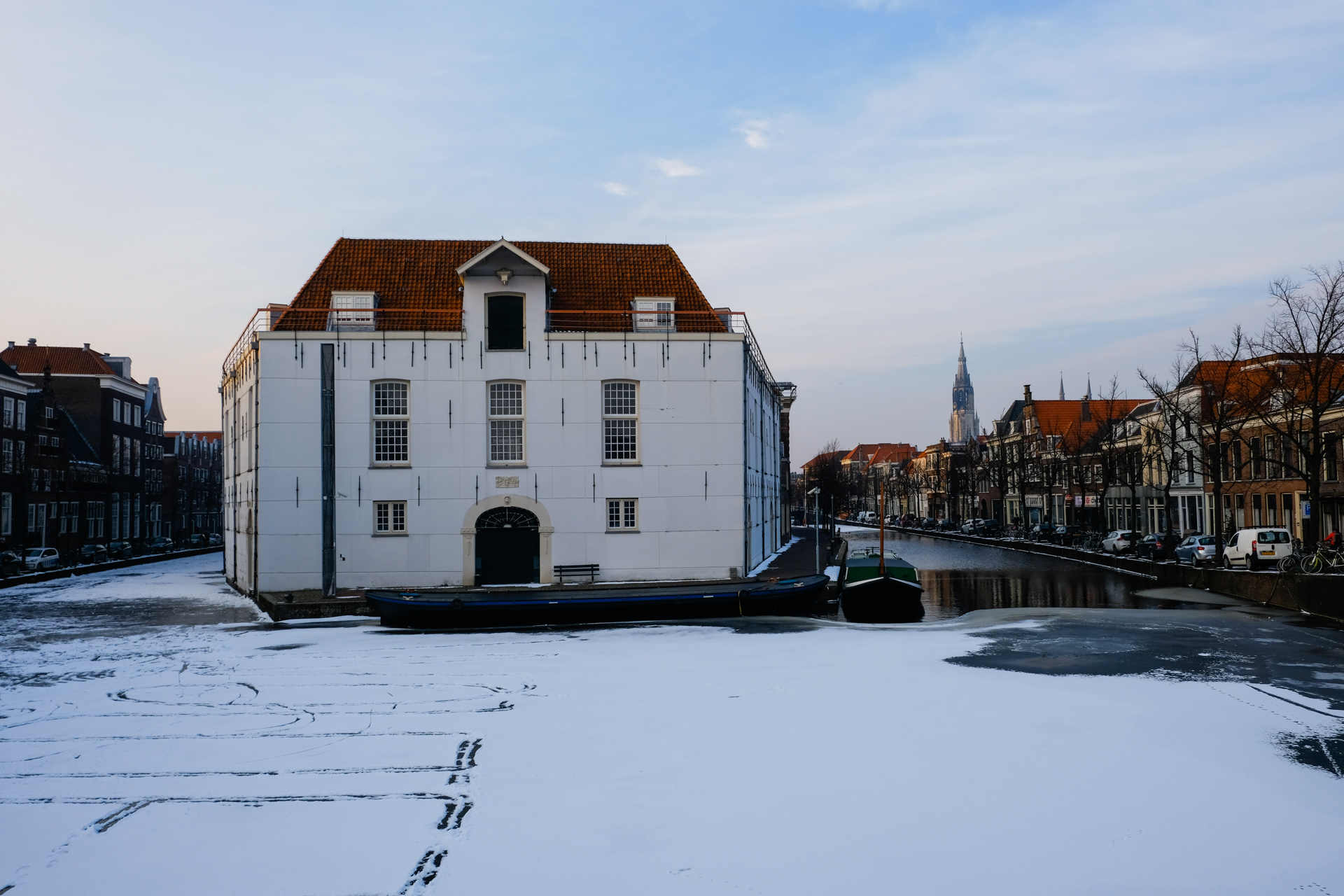 Frozen canal near the army museum