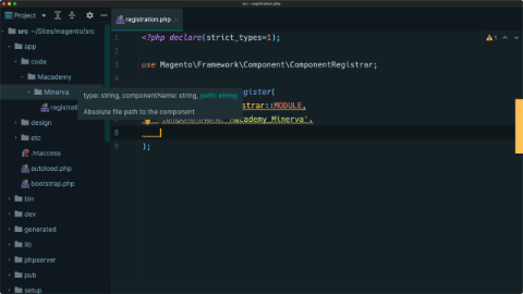 Create the module & define dependencies