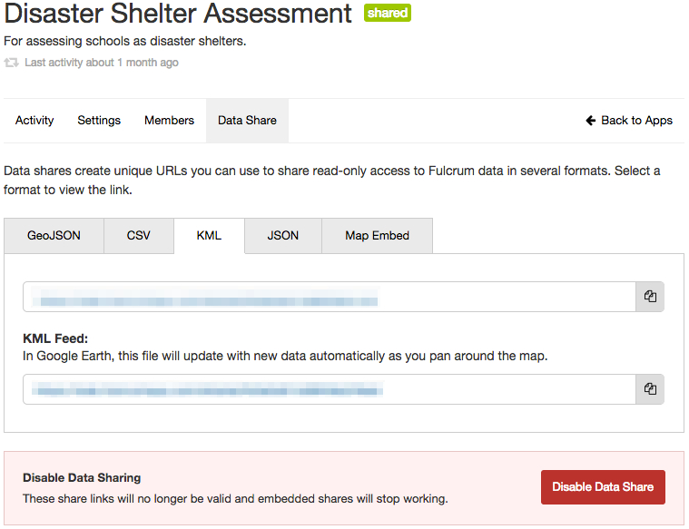 Screenshot 3 of 5 to set up a data share.
