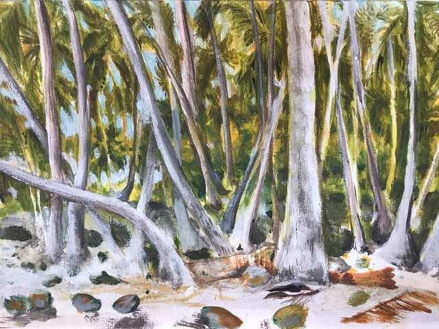 Oceania Feeling Tikehau My Grove, acrylic on paper