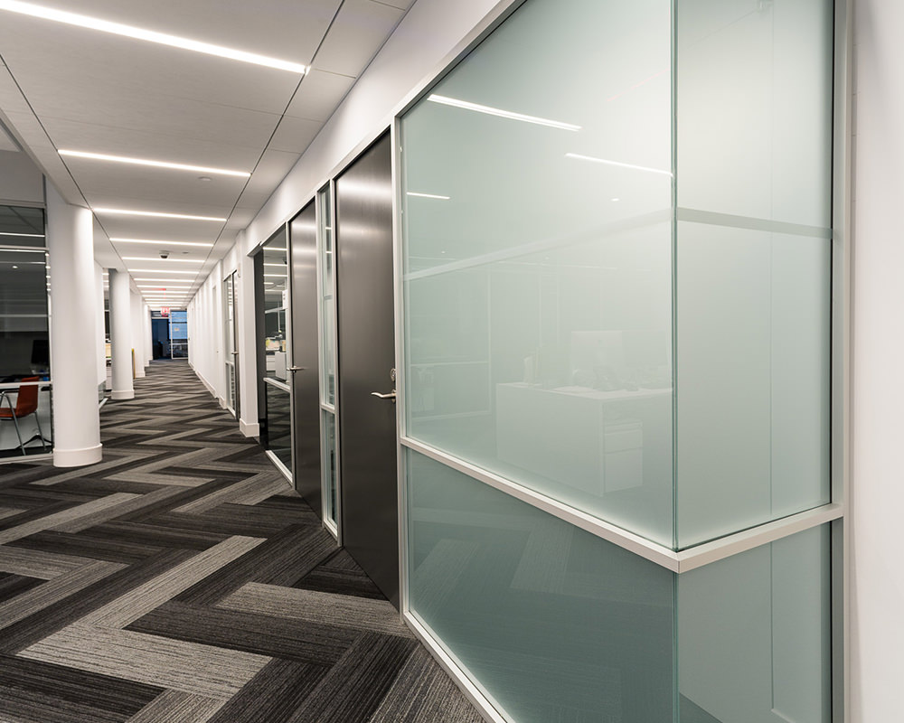 Office with Frosted Glass Walls