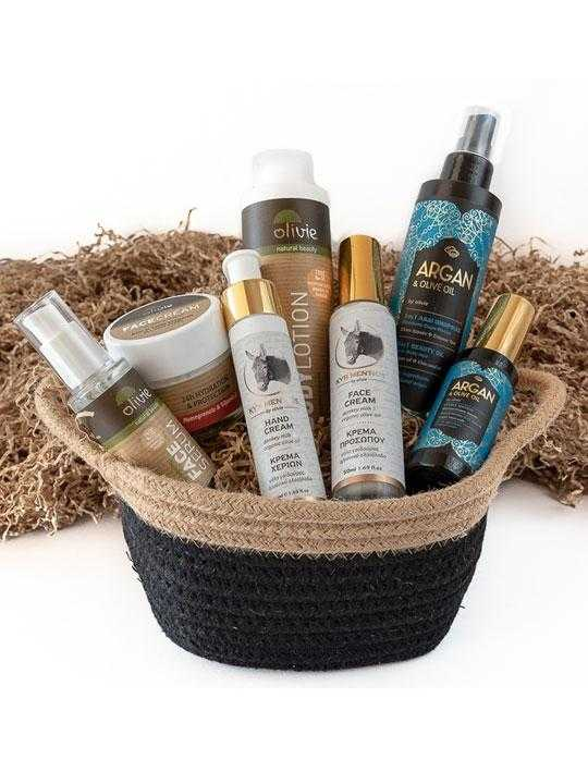 basket-greek-natural-cosmetics-donkey-milk-selection