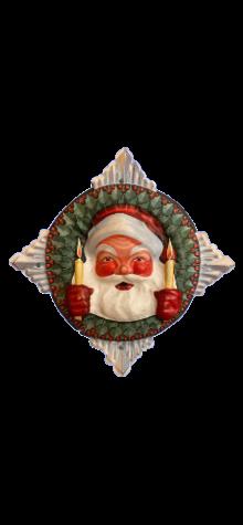 Santa Face in Wreath photo
