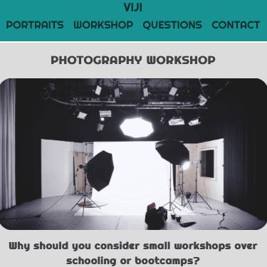Image of Viji Photography Webpage