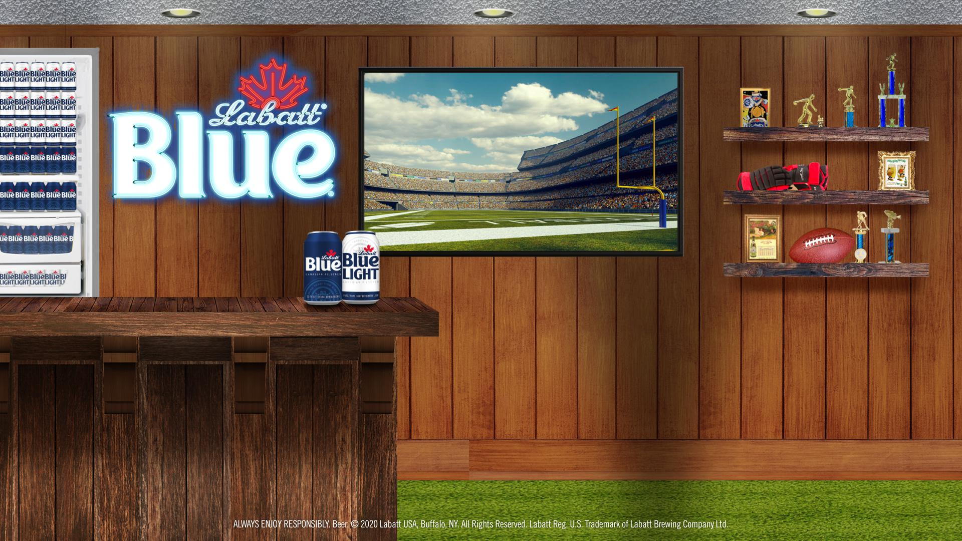 Labatt Blue Man Cave Background