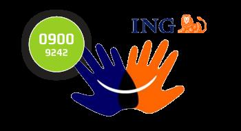 ING gebruikt een 0900-nummer.