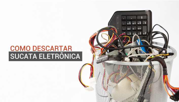 Imagem em destaque para o artigo: Sucata eletrônica: o que é e como descartar corretamente