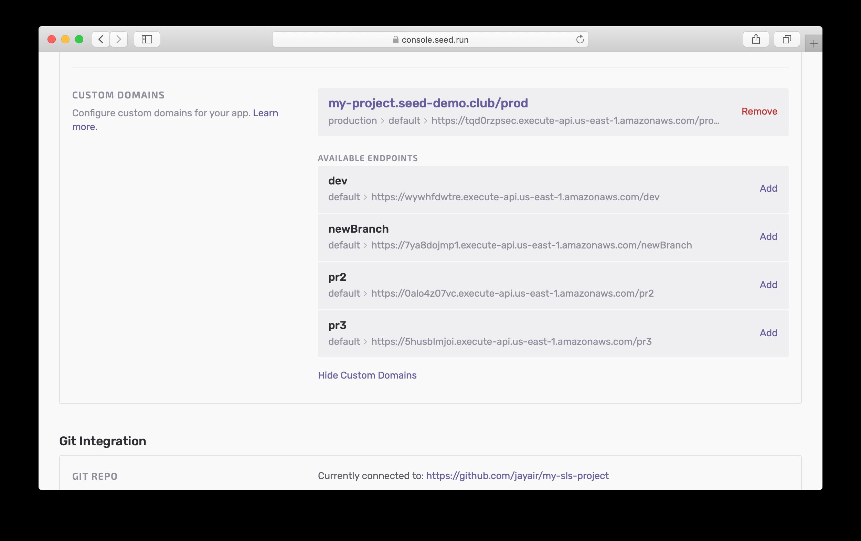 Remove Custom Domain