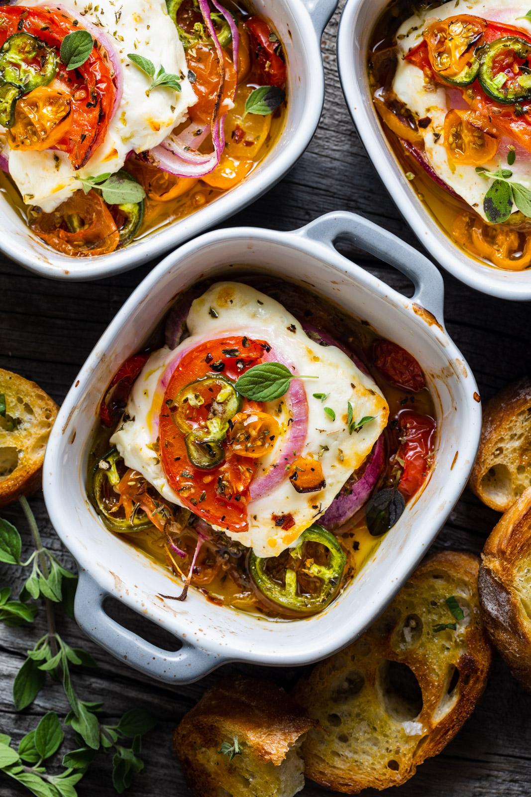 Spicy Baked Feta – Bouyiourdi