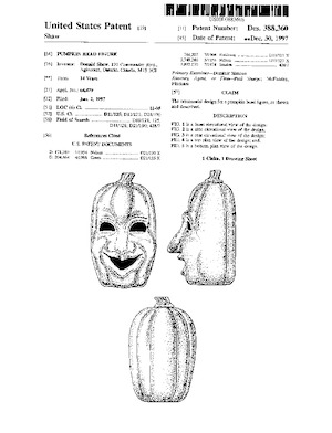 Integrated Plastics Pumpkin Head Figure Patent #D388360.pdf preview