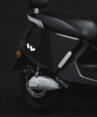 Wunder branded black electric scooter, created with Yadea.