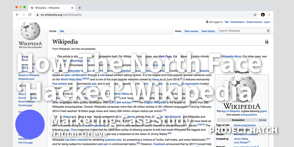 How the North Face 'Hacked' Wikipedia