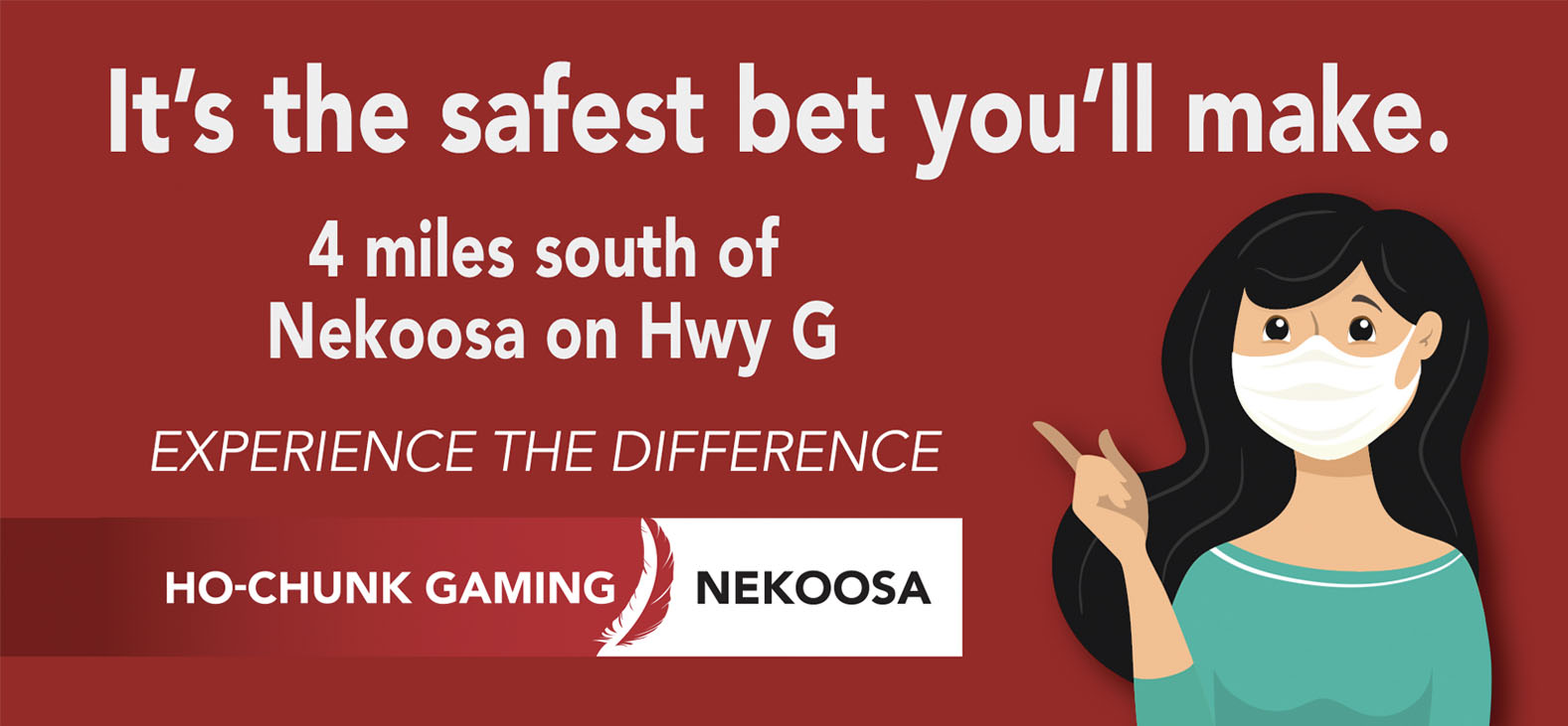 Ho-Chunk Gaming Nekoosa we don't press our luck with safety graphic