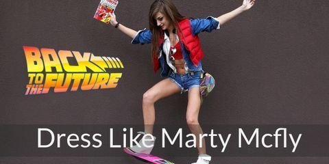 You need these items to cosplay as Marty Mcfly from Back to the Future Series