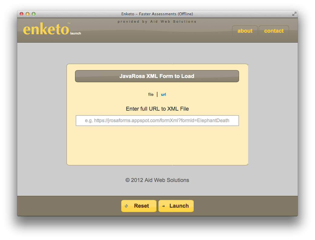 Screenshot showing form upload feature.